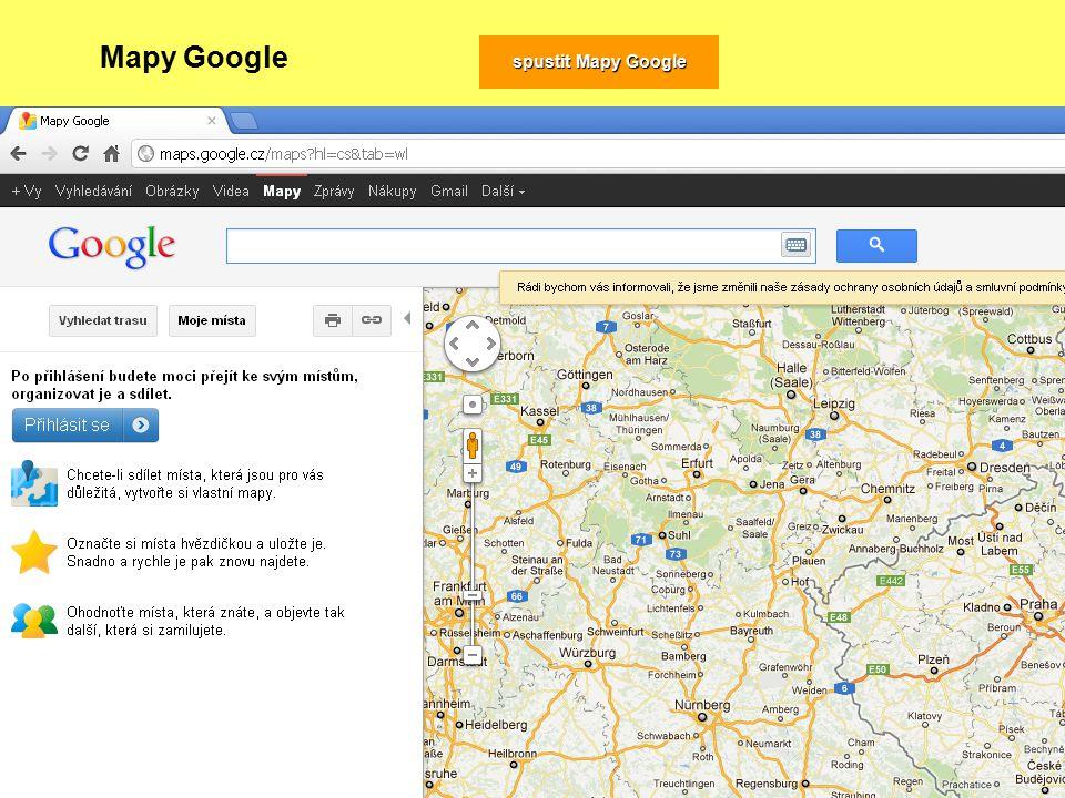 Mapy Google spustit Mapy Google spustit Mapy Google