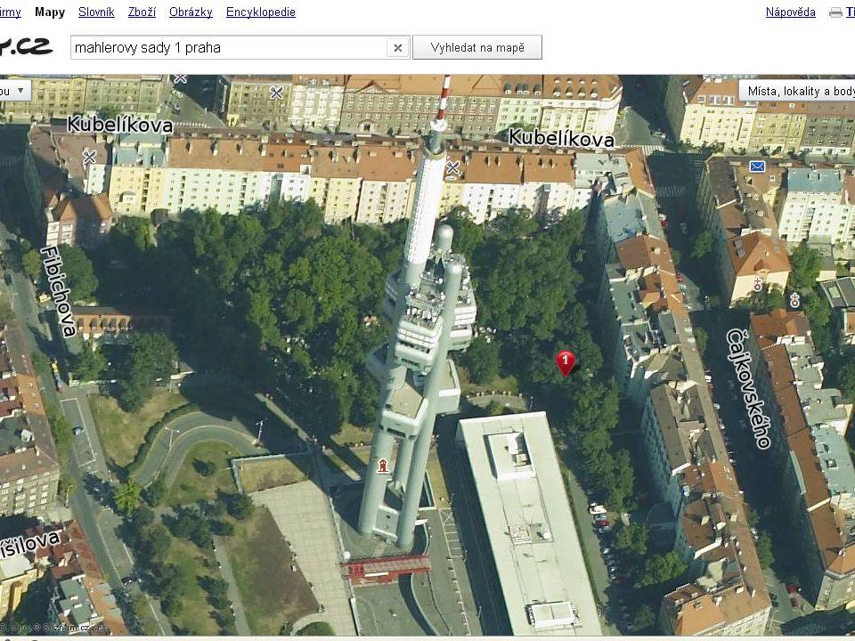 Úkol: využijte server nahlížení do katastru nemovitostí. Zjistěte vlastníka nemovitosti na parcele 1361/5 v k.ú. Žižkov (Praha). Zjistěte, jaká stavba