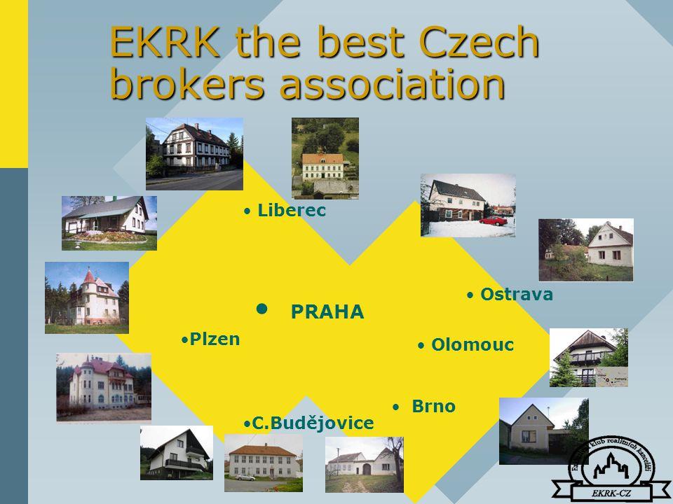 EKRK the best Czech brokers association PRAHA Olomouc Plzen Brno Ostrava Liberec C.Budějovice