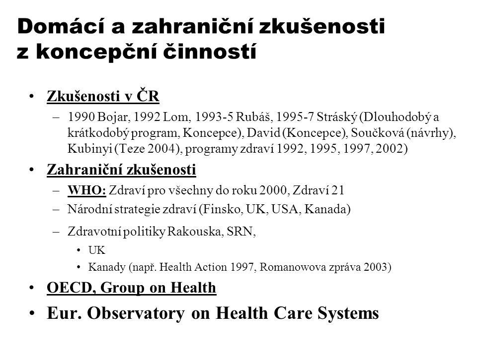 Další významné principy a jejich diskuse Organizačně právní uspořádání nemocniční péče, neziskovost hospodaření Veřejnoprávní korporace, pravidla volby zástupců do těchto korporací Soukromoprávní korporace vs.