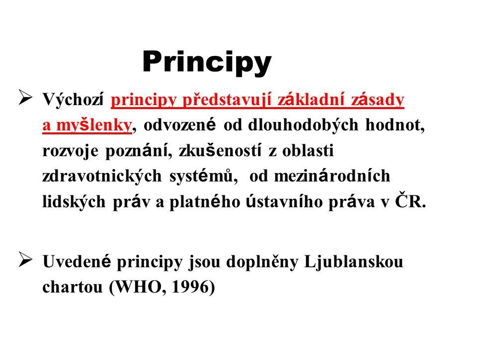 Principy  Výchoz í principy představuj í z á kladn í z á sady a my š lenky, odvozen é od dlouhodobých hodnot, rozvoje pozn á n í, zku š enost í z obl