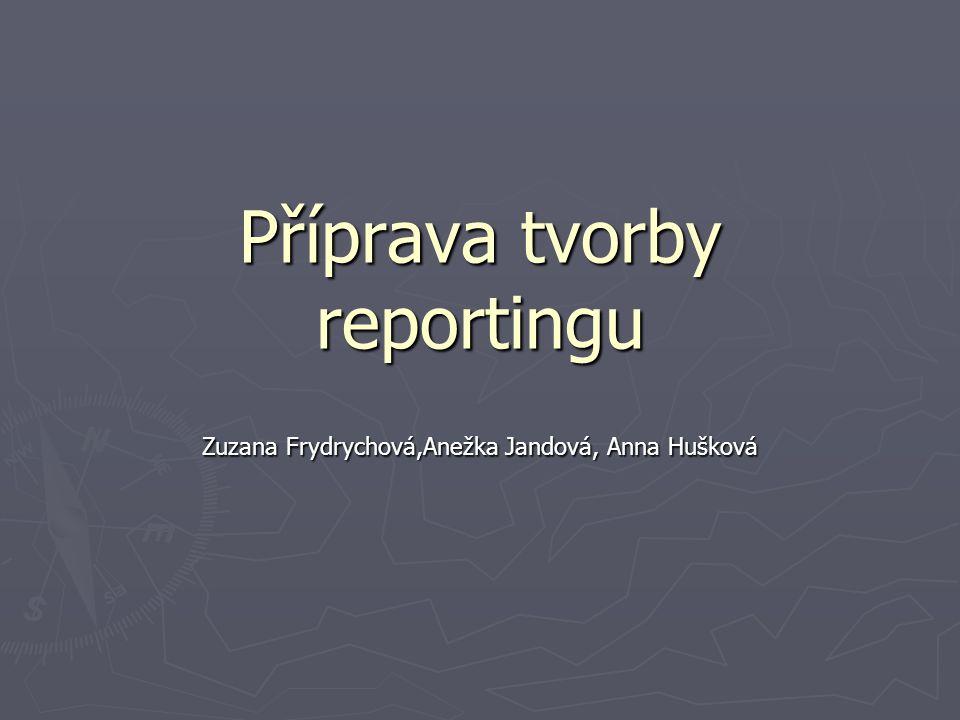 Příprava tvorby reportingu Zuzana Frydrychová,Anežka Jandová, Anna Hušková