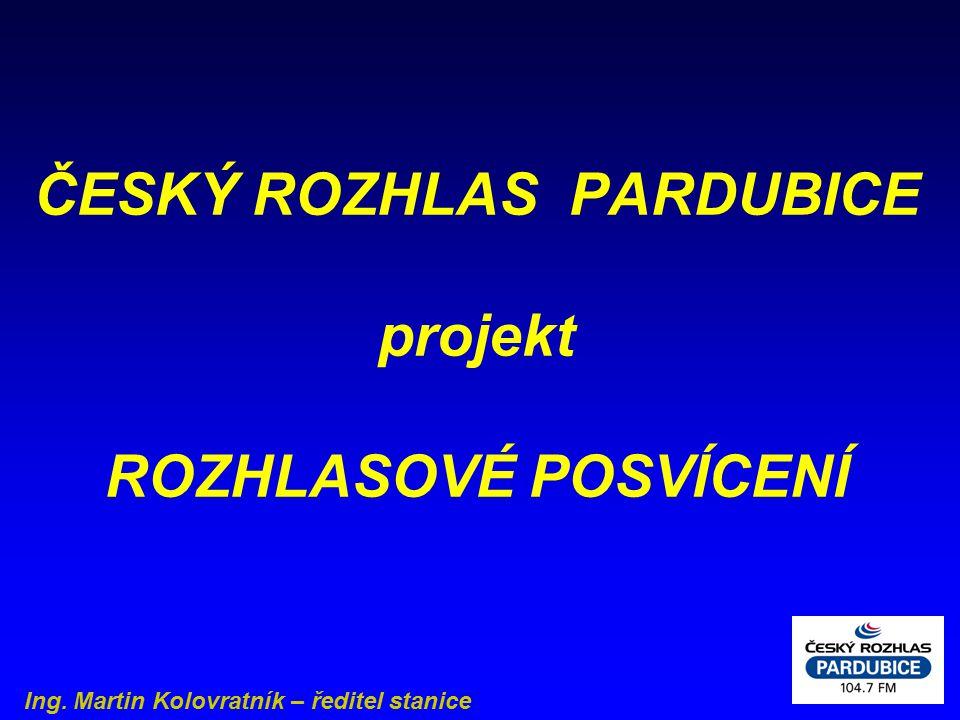 ČESKÝ ROZHLAS PARDUBICE projekt ROZHLASOVÉ POSVÍCENÍ Ing. Martin Kolovratník – ředitel stanice
