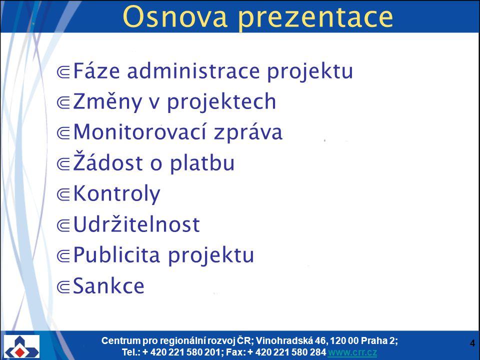 Monitorovací zpráva Podmínky Vyplňování MZ