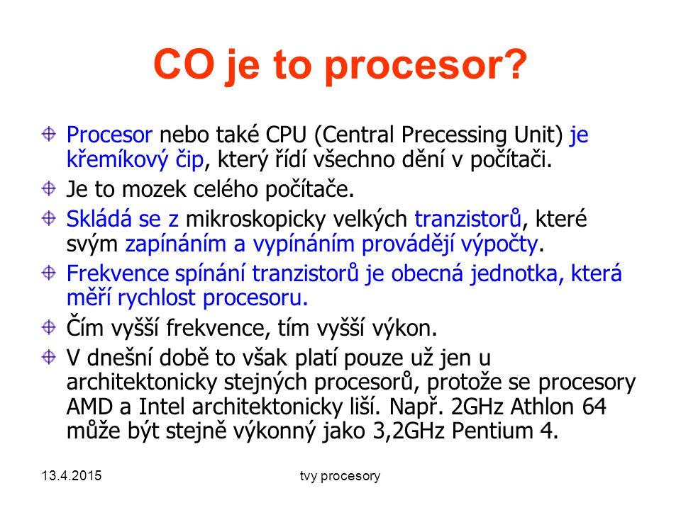 CO je to procesor.