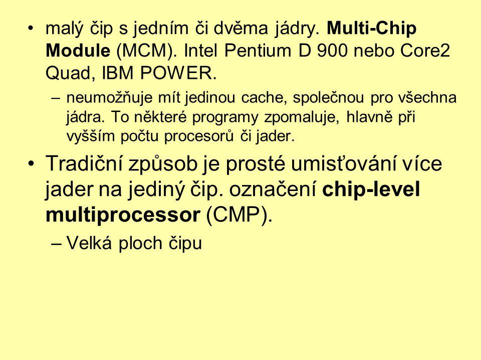 malý čip s jedním či dvěma jádry.Multi-Chip Module (MCM).