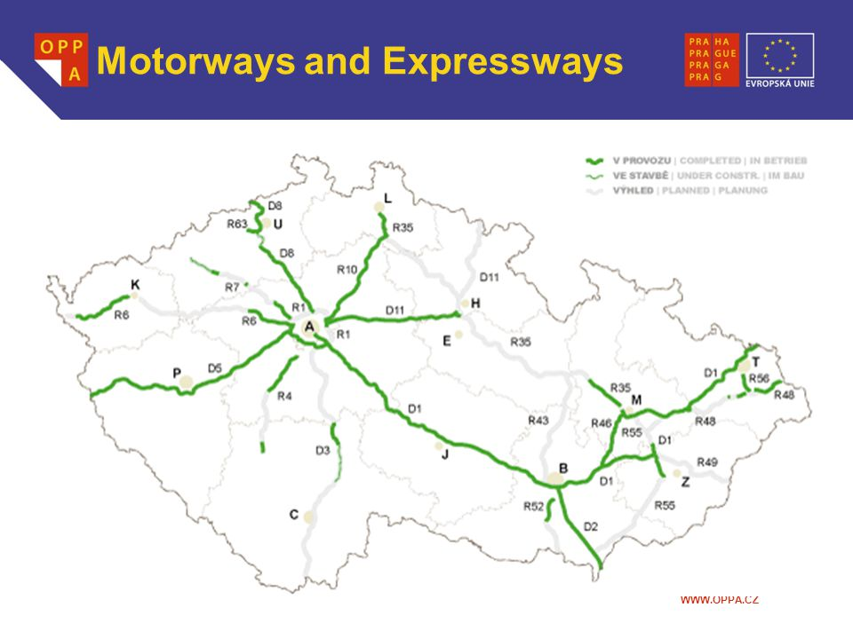 WWW.OPPA.CZ Motorways and Expressways