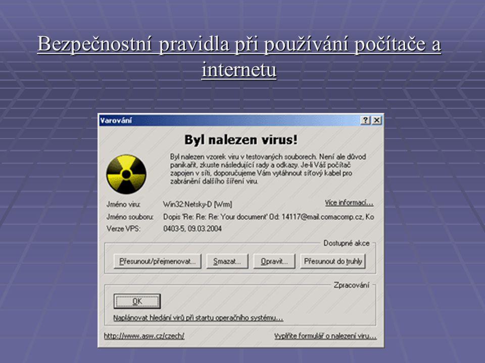 Internet a jeho bezpečnost!