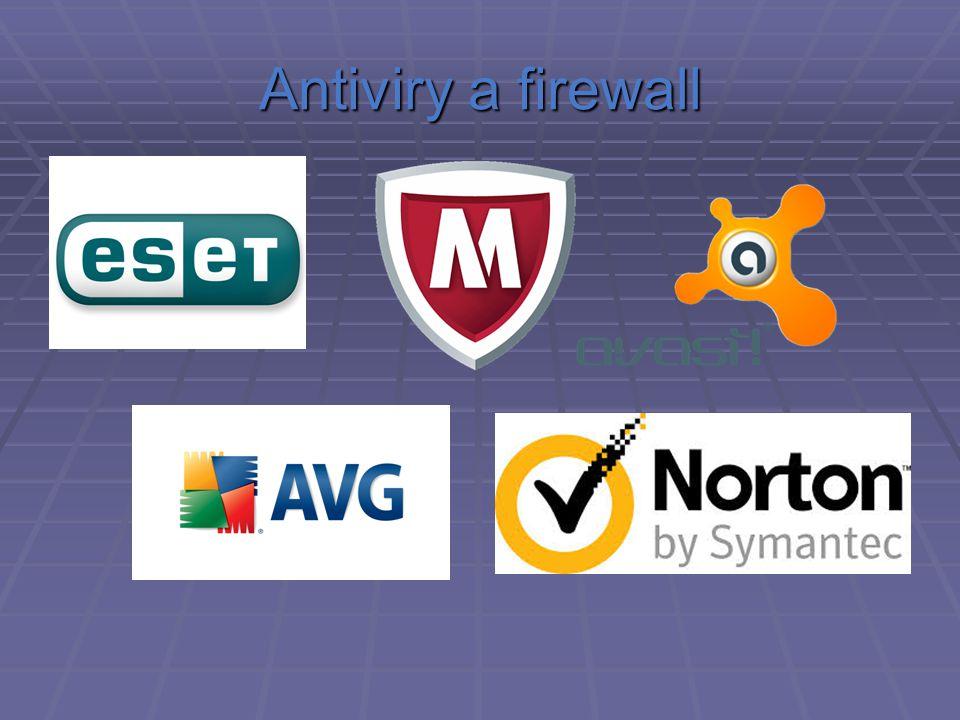 Antiviry a firewall