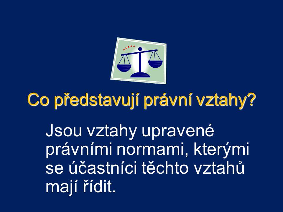 Co představují právní vztahy.