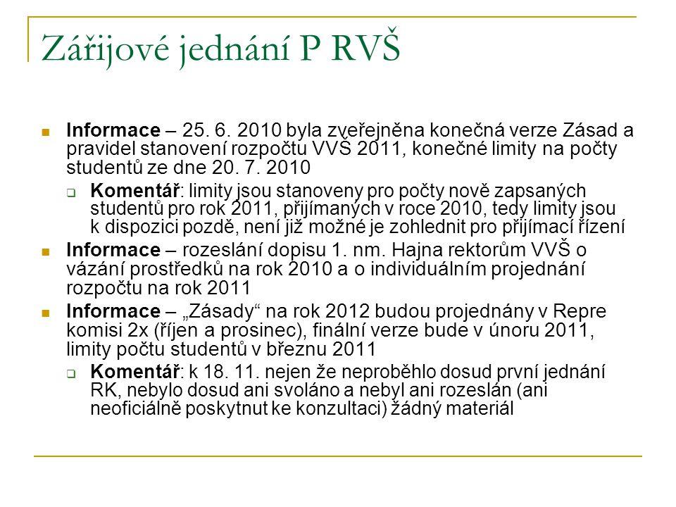 Zářijové jednání P RVŠ Informace – 25.6.