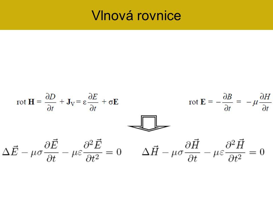 Elektrické vlny (E-vlny) neboli transverzálně-magnetické vlny (TM-vlny) – E z  0, H z = 0 – podélná složka mag.
