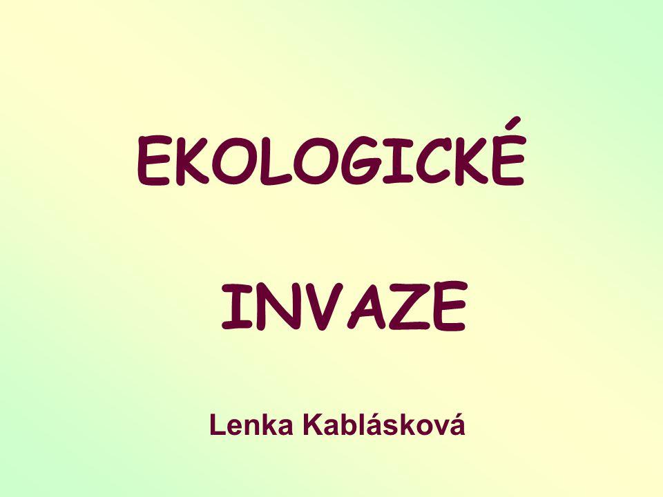 EKOLOGICKÉ INVAZE Lenka Kablásková