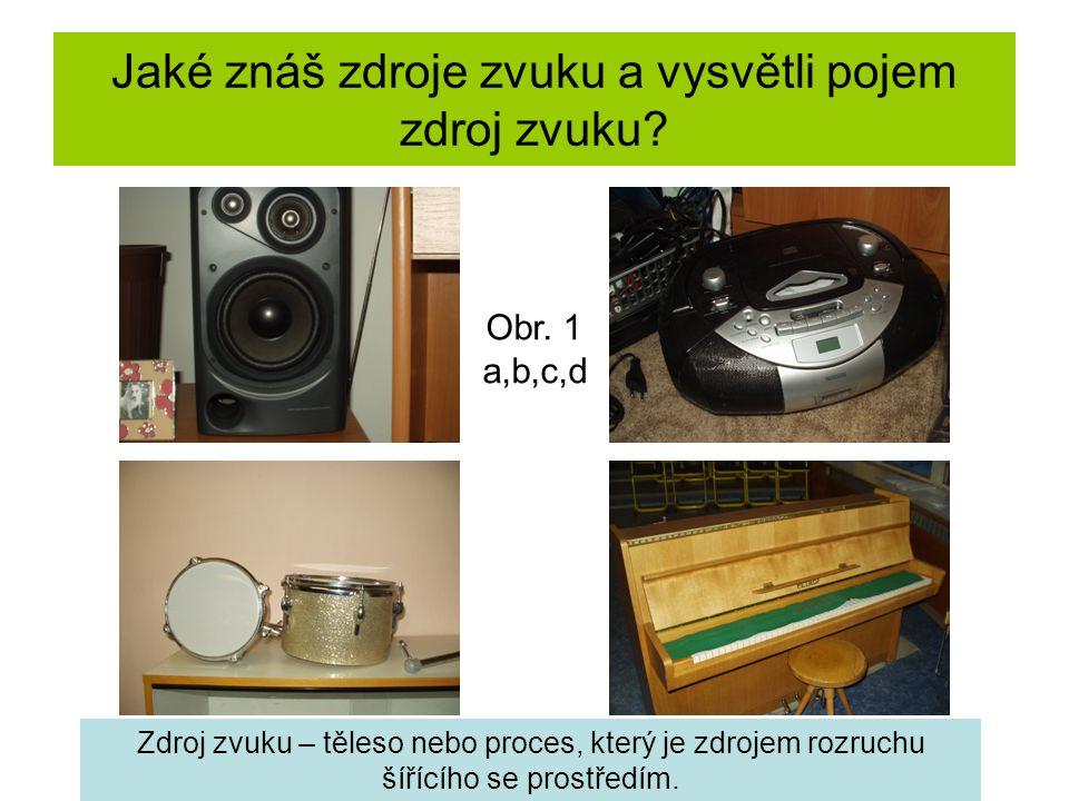 Jaké znáš zdroje zvuku a vysvětli pojem zdroj zvuku.