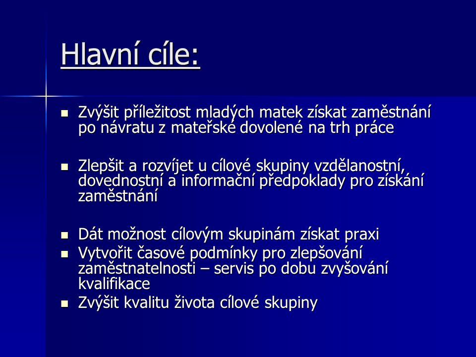 Současný stav příprav: Předjednáno partnerství s Městskou knihovnou v J.Hradci, dobrovolnickým centrem INKANO Písek, Jihočeskou hospodářskou komorou – pobočka v J.H.