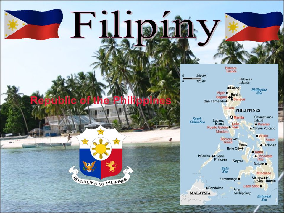 Základní údaje Oficiální název: Filipínská republika Hlavní město: Manila (1,6 mil.