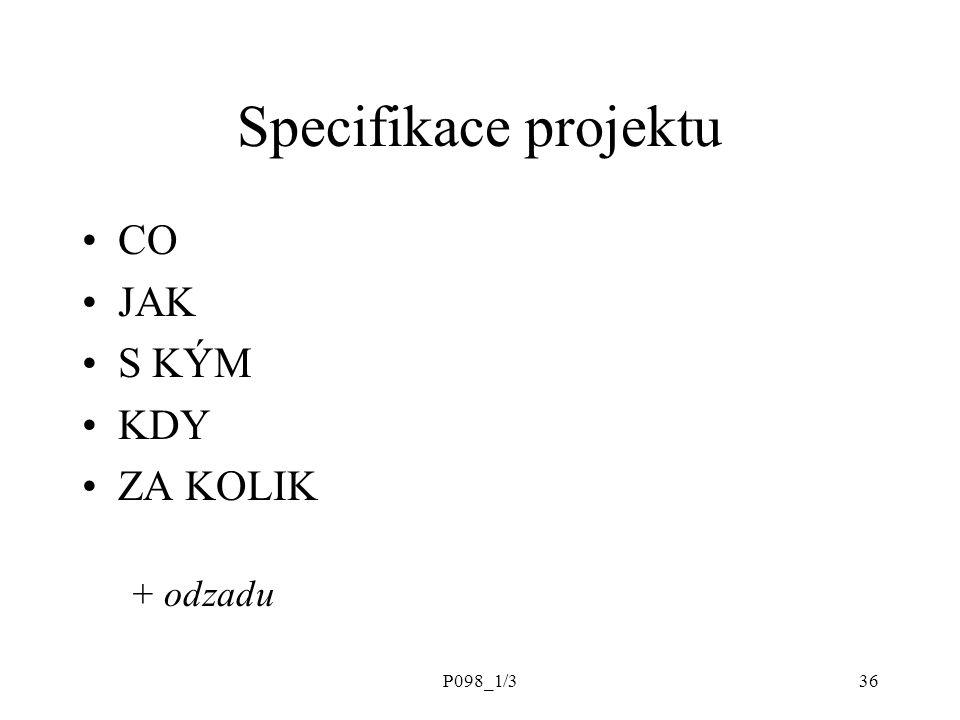 P098_1/336 Specifikace projektu CO JAK S KÝM KDY ZA KOLIK + odzadu