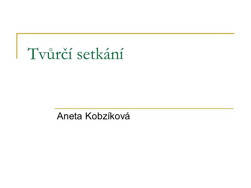 Tvůrčí setkání Aneta Kobzíková