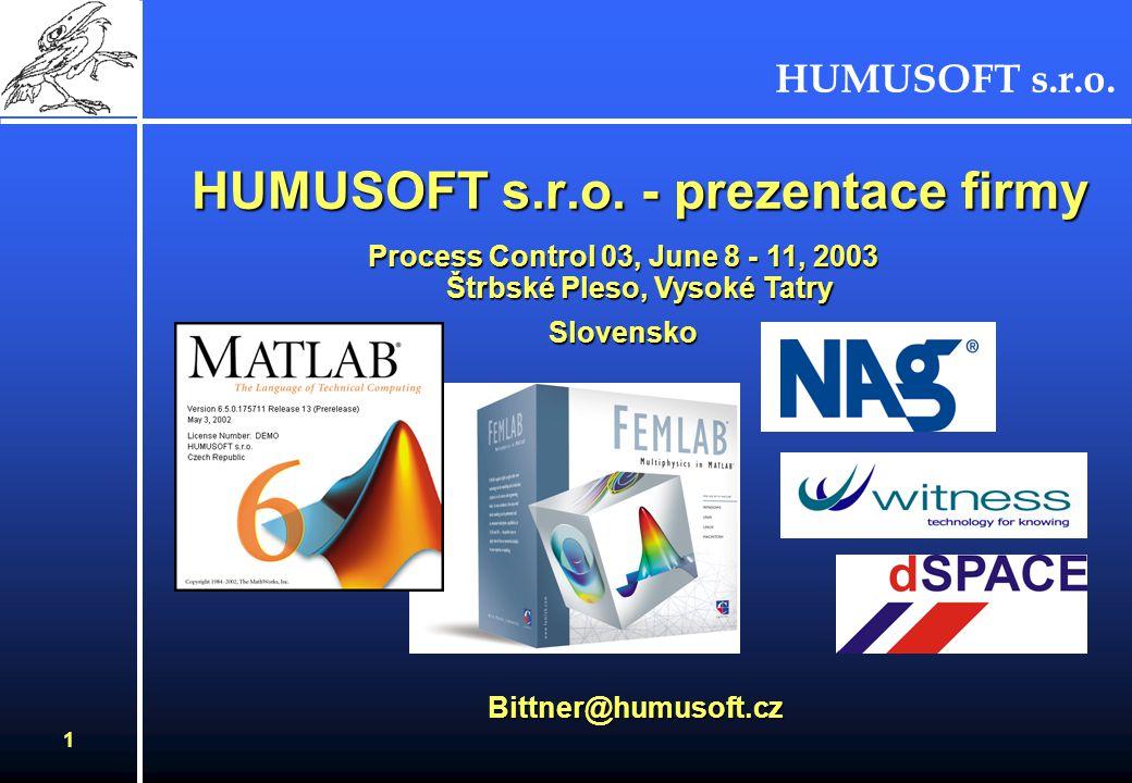 HUMUSOFT s.r.o.1 HUMUSOFT s.r.o.