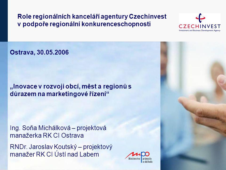 """Ostrava, 30.05.2006 """"Inovace v rozvoji obcí, měst a regionů s důrazem na marketingové řízení Ing."""