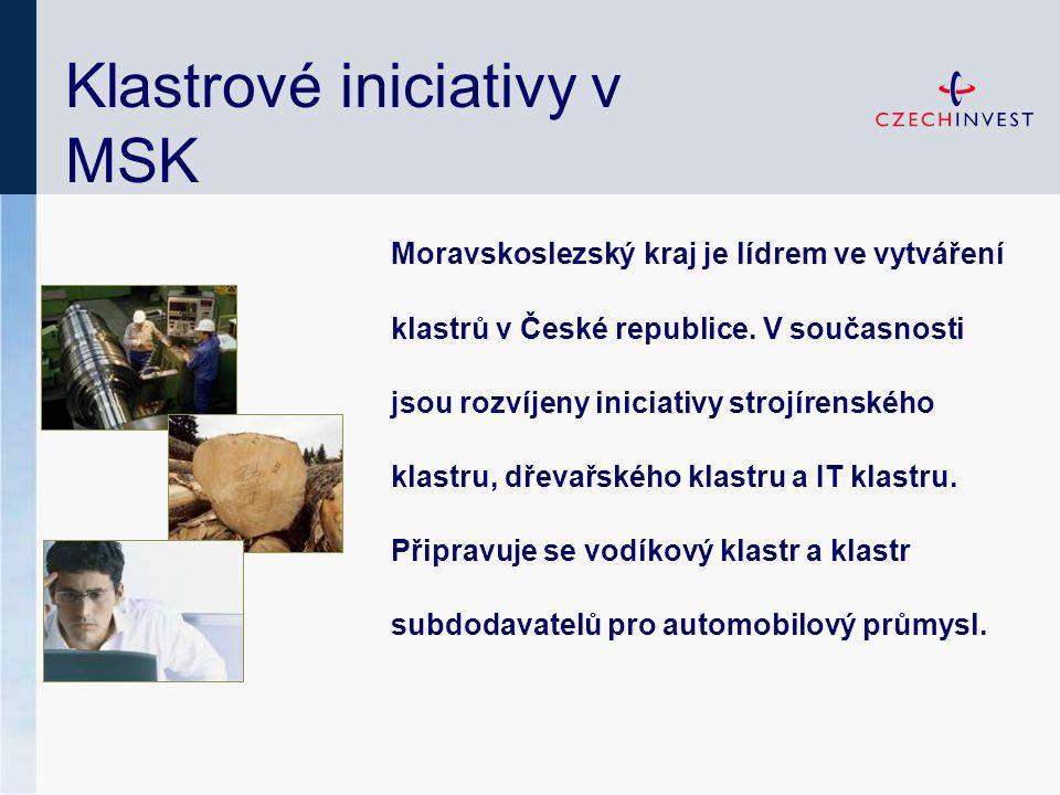 Klastrové iniciativy v MSK Moravskoslezský kraj je lídrem ve vytváření klastrů v České republice. V současnosti jsou rozvíjeny iniciativy strojírenské