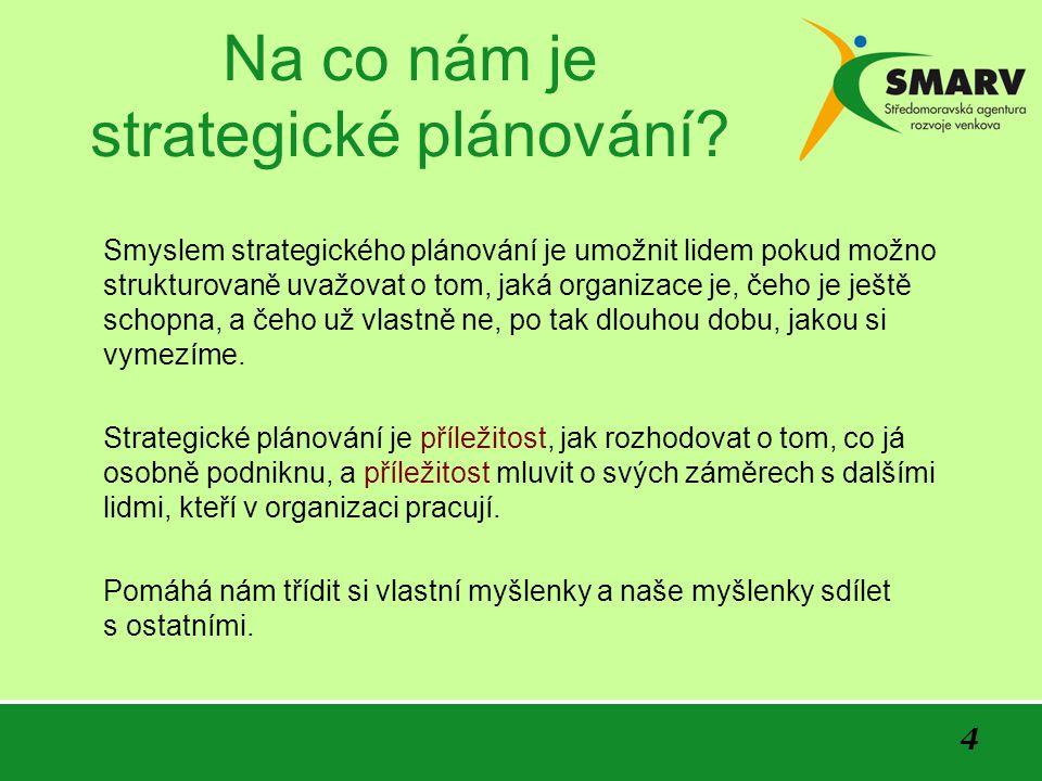 4 Na co nám je strategické plánování.
