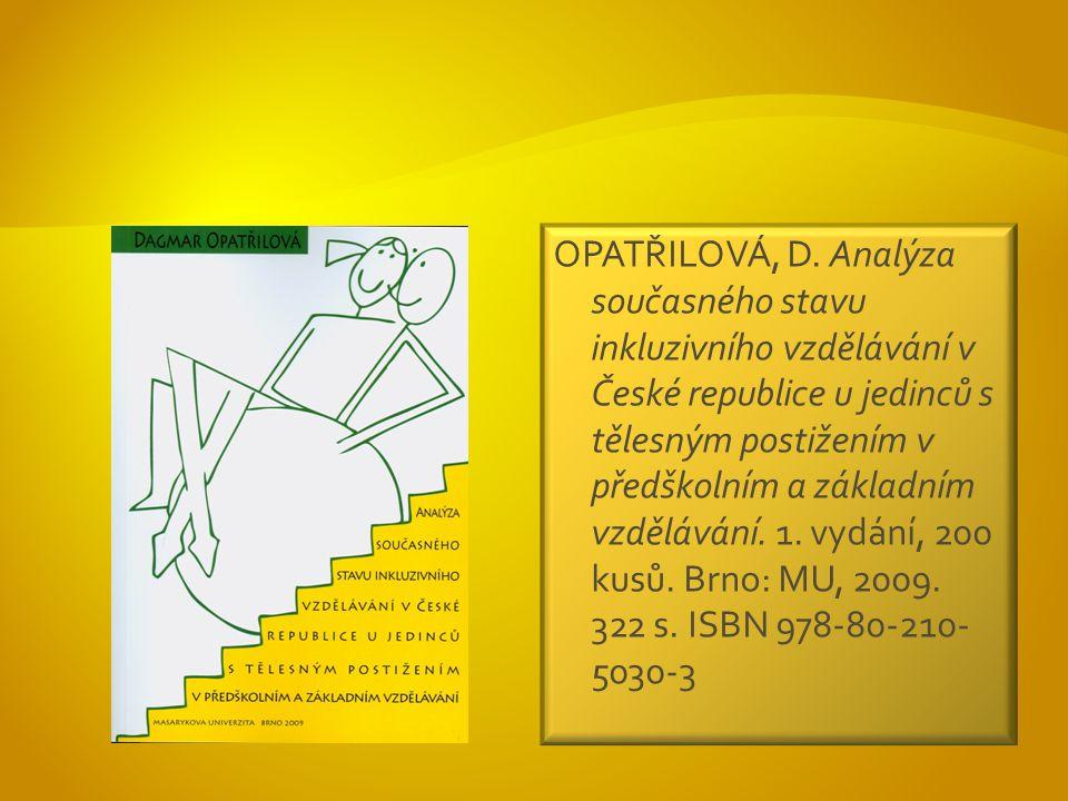 OPATŘILOVÁ, D.