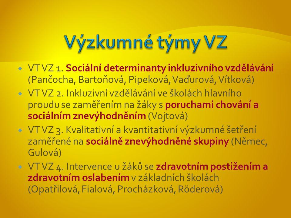  VT VZ 5.Vzdělávání a výchova nadaných žáků (Šimoník, Škrabánková, Šťáva)  VT VZ 6.