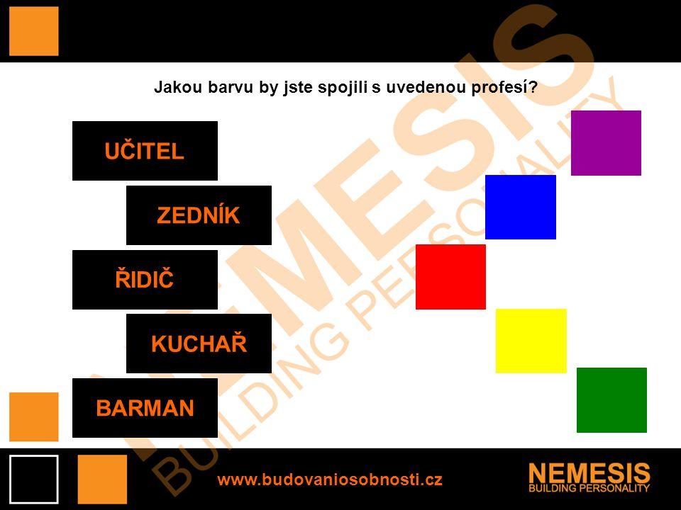 www.budovaniosobnosti.cz Jakou barvu by jste spojili s uvedenou profesí.