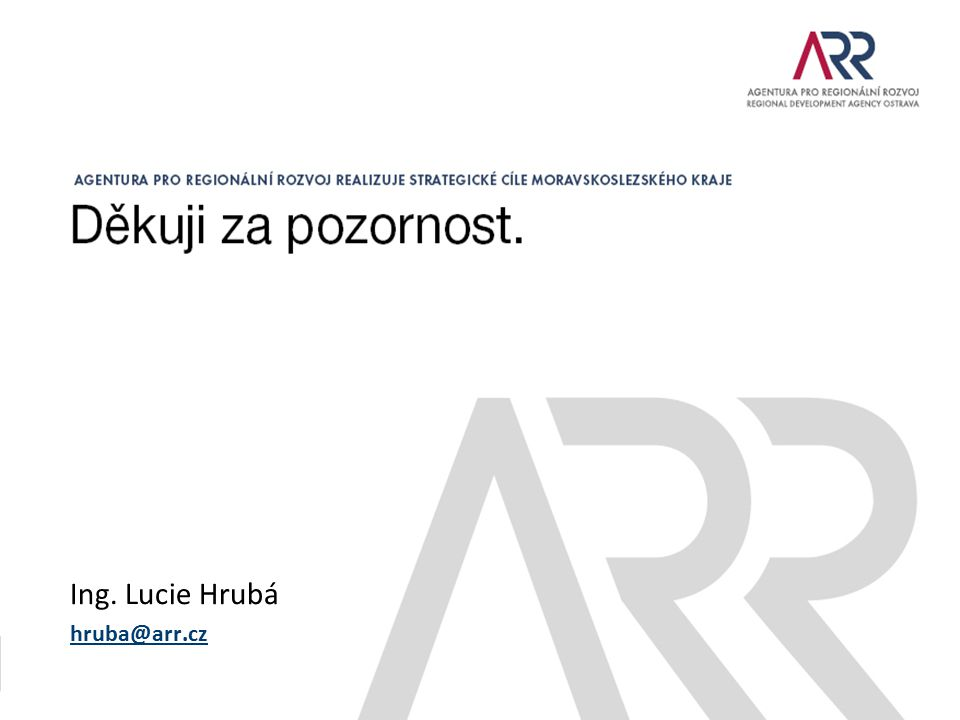 Ing. Lucie Hrubá hruba@arr.cz
