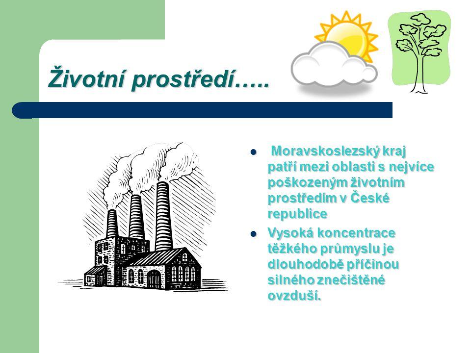 Životní prostředí….. Moravskoslezský kraj patří mezi oblasti s nejvíce poškozeným životním prostředím v České republice Moravskoslezský kraj patří mez