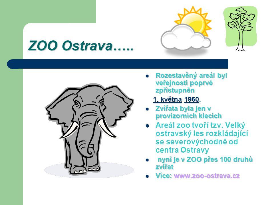 ZOO Ostrava….. Rozestavěný areál byl veřejnosti poprvé zpřístupněn Rozestavěný areál byl veřejnosti poprvé zpřístupněn 1. května 1960. 1. května 1960.