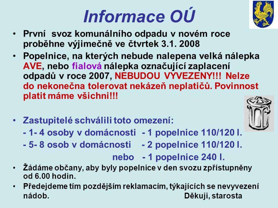 Oznámení ČEZ distribuce Zaměstnanci společnosti ČEZ budou v obci ve dnech 7.