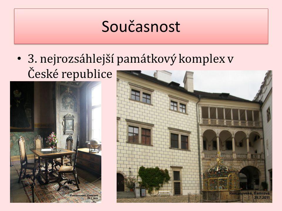 Současnost 3. nejrozsáhlejší památkový komplex v České republice