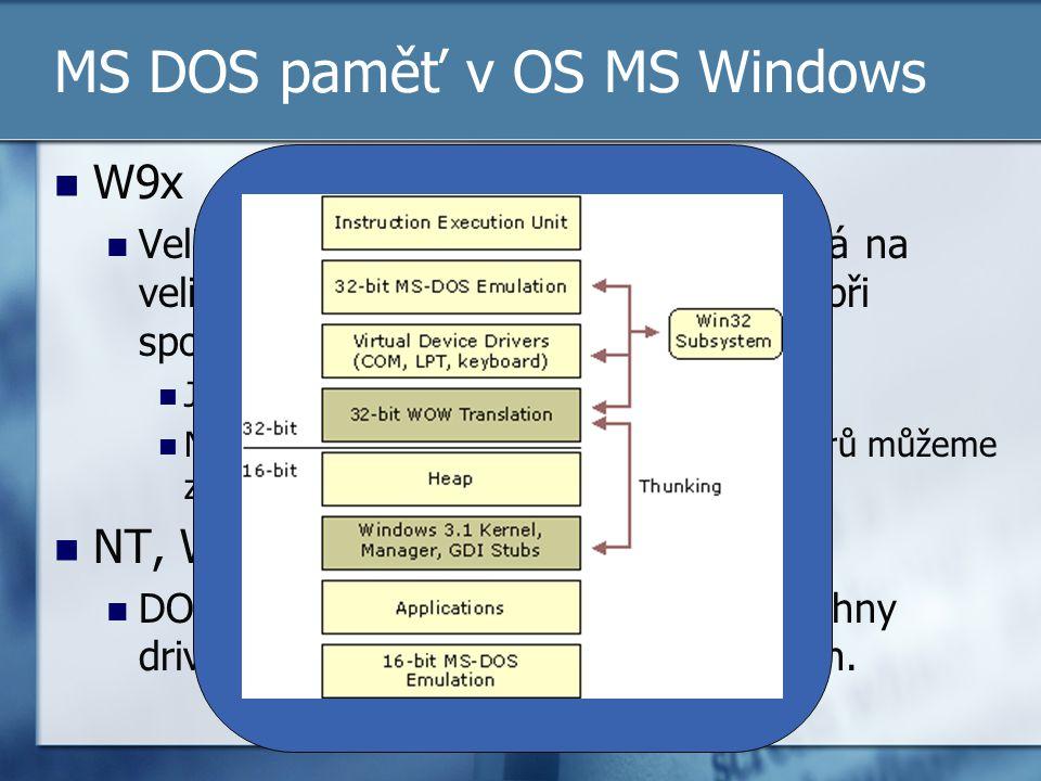W9x Velikost paměti v DOS okénku je závislá na velikosti paměti, která byla k dispozici při spouštění Windows!!! Je tedy stále důvod pro optimalizaci!