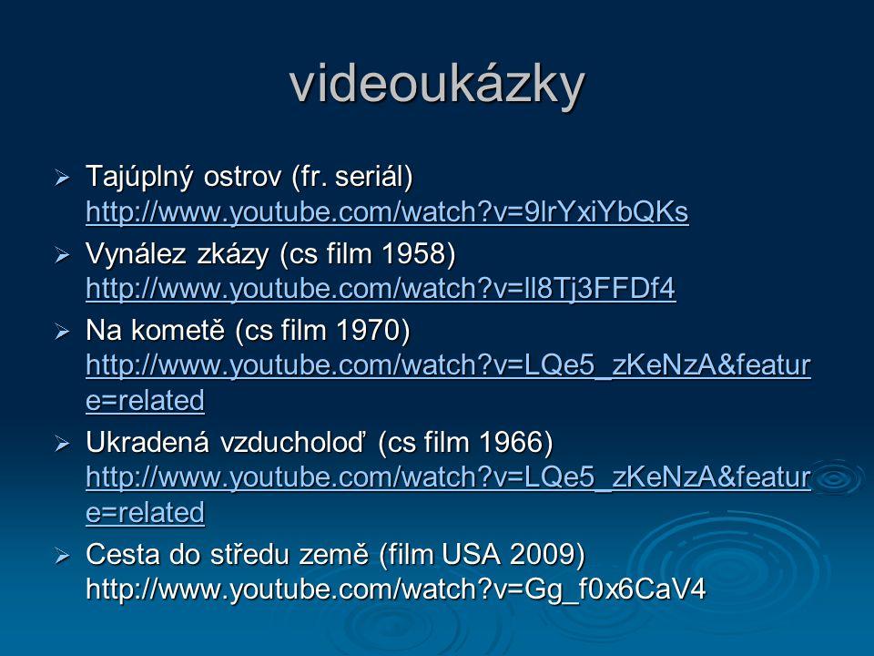 videoukázky  Tajúplný ostrov (fr.