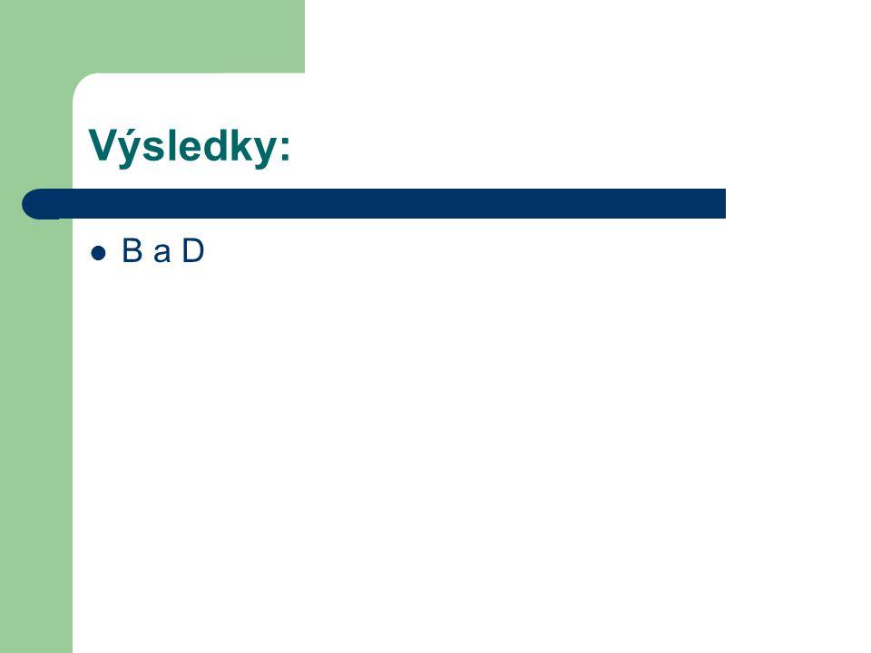Výsledky: B a D