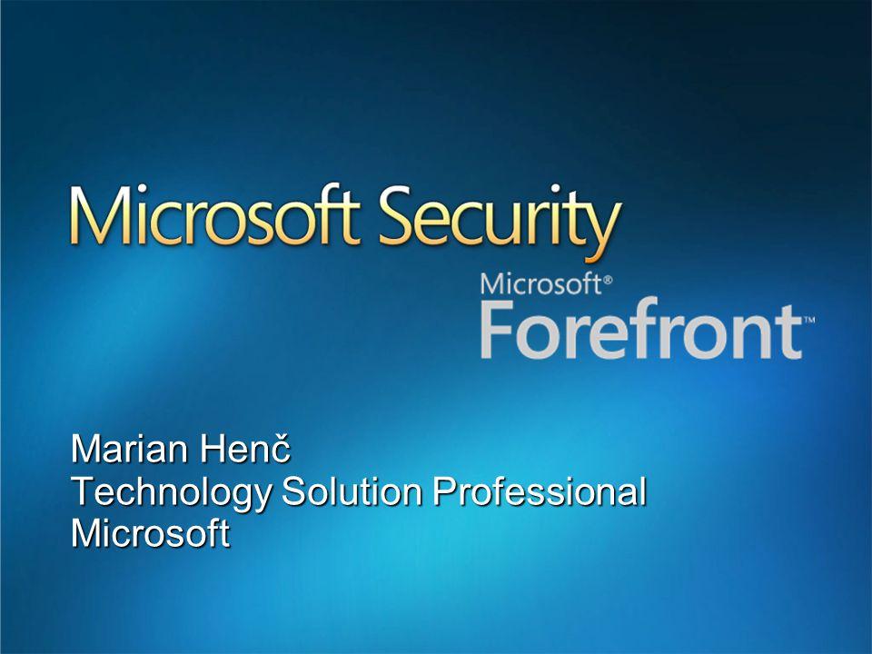 Microsoft Forefront Forefront security - client protection Forefront security - Microsoft Antigen Přehled celého řešení Agenda