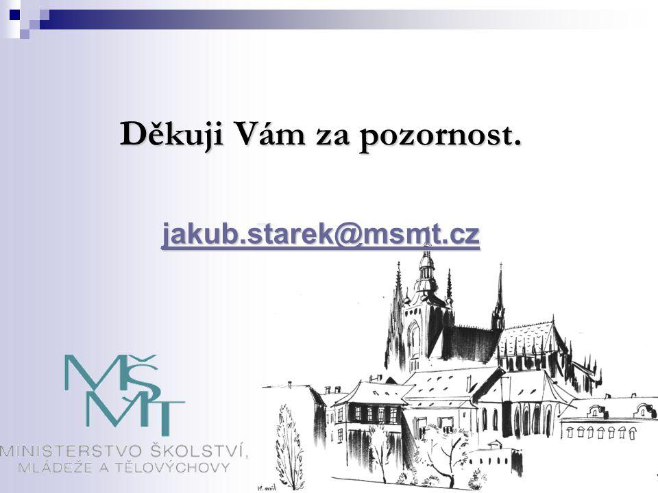 Děkuji Vám za pozornost. jakub.starek@msmt.cz
