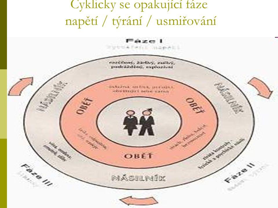Cyklicky se opakující fáze napětí / týrání / usmiřování