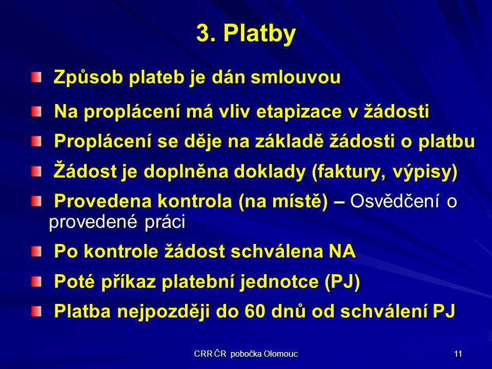 CRR ČR pobočka Olomouc 11 3.