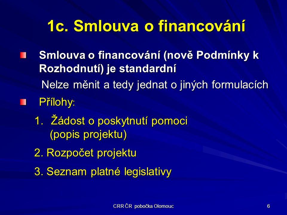 CRR ČR pobočka Olomouc 6 1c.