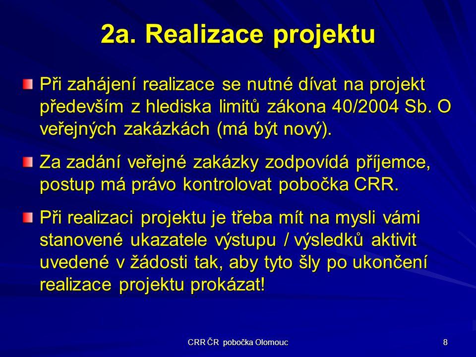 CRR ČR pobočka Olomouc 8 2a.
