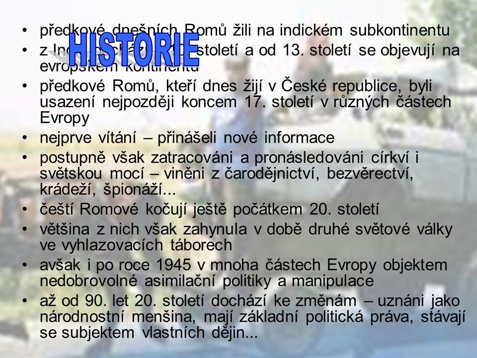 většina Romů přišla do České republiky ze Slovenska v letech 1945-1993 první vlna – po skončení 2.