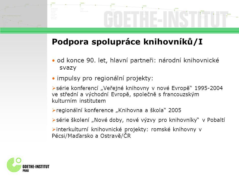Podpora spolupráce knihovníků/I od konce 90.