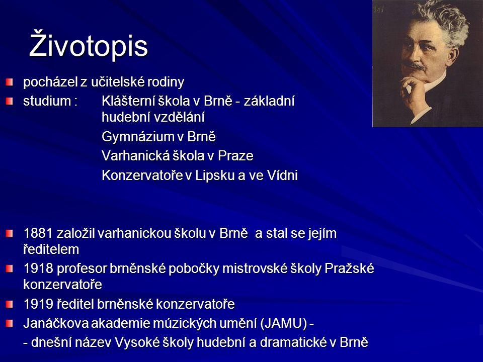 Dílo ovlivňováno sociální tématikou, ruskou klasickou literaturou a moravskou lidovou písní zachycoval do svých nápěvů melodický a rytmický spád řeči sbíral a studoval lidovou píseň ve světě je proslaven jako tvůrce české hudební kultury.