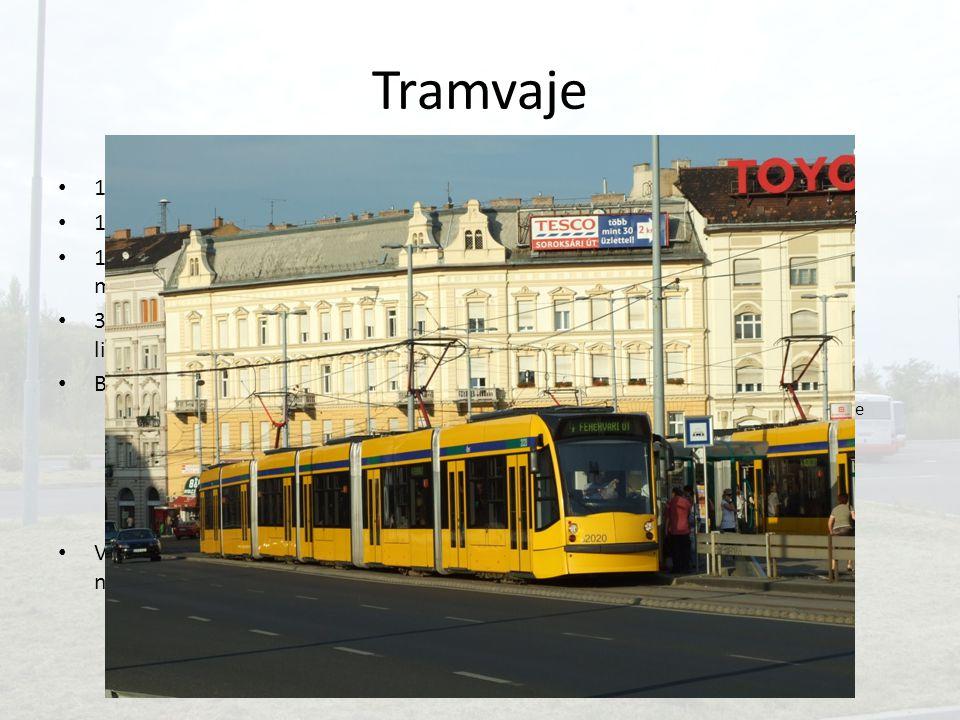 Tramvaje 1875 – koněspřežná tramvaj 1891 – elektrická tramvaj 1974 – útlum významu kvůli metru, méně nových tratí 300 km tratí, 24 denních a 9 nočních