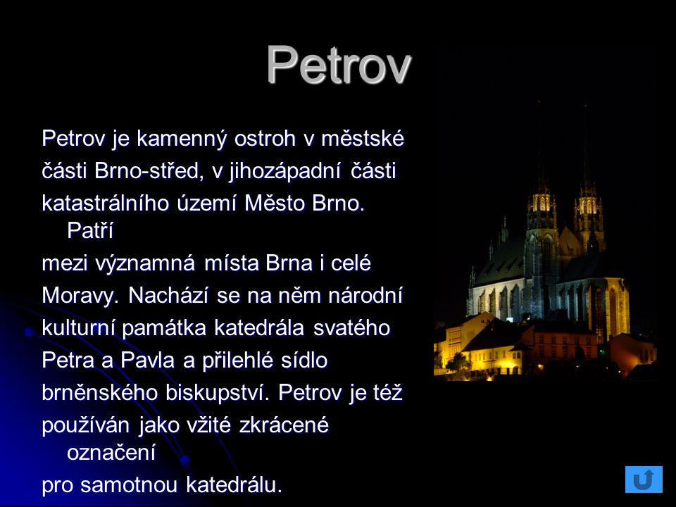 Petrov Petrov je kamenný ostroh v městské části Brno-střed, v jihozápadní části katastrálního území Město Brno. Patří mezi významná místa Brna i celé