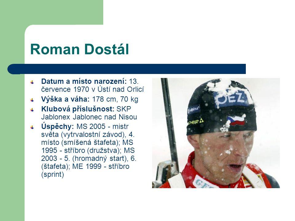 Roman Dostál Datum a místo narození: 13.