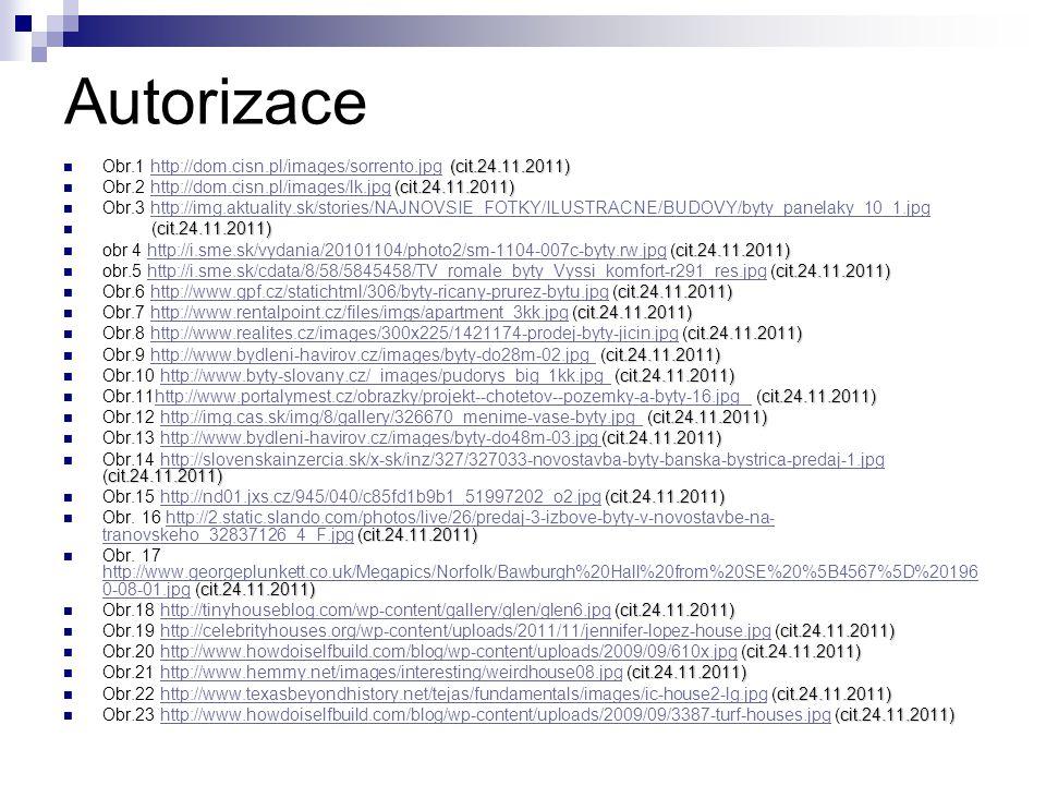 Autorizace (cit.24.11.2011) Obr.1 http://dom.cisn.pl/images/sorrento.jpg (cit.24.11.2011)http://dom.cisn.pl/images/sorrento.jpg cit.24.11.2011) Obr.2